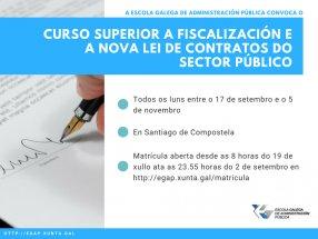 Curso superior A fiscalización e a nova Lei de contratos do sector público